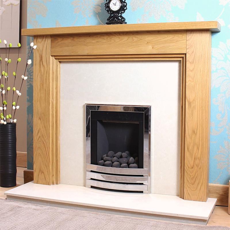Oak fire surrounds oak fireplaces wooden fireplaces three step solid oak fireplace surround solutioingenieria Gallery