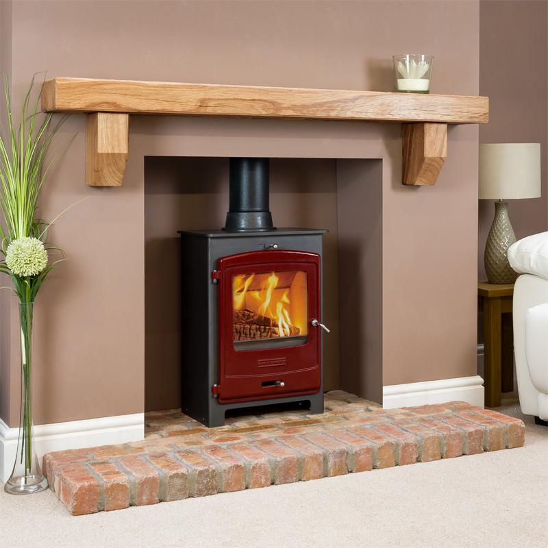 Rustic Angled Corbel Oak Beam Mantel Shelf