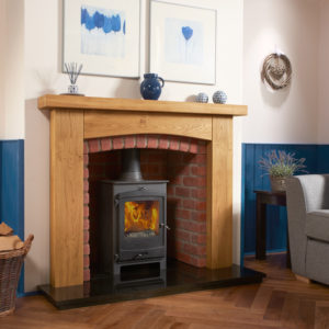 Arched Ashford Oak Fireplace Package