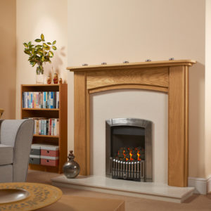 Arched Oak Fireplace Package