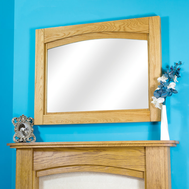 Arched Solid Oak Mantel Mirror Oak Fire Surrounds