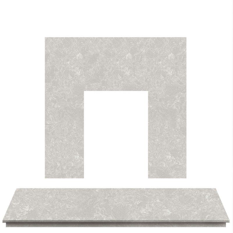 Italian Bering Marble Fireplace Hearth Set