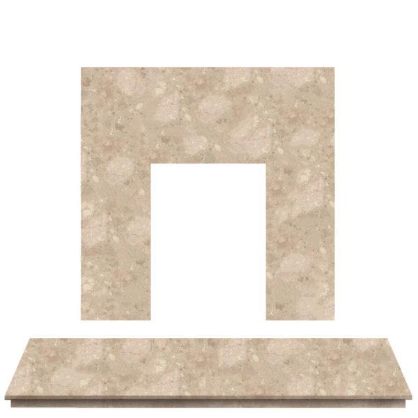 Bottocino Marble Fireplace Hearth Set