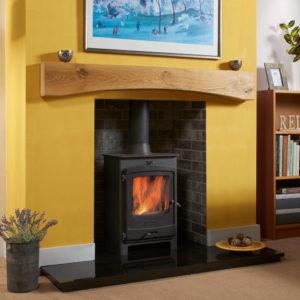 Rustic Bowed Oak Fireplace Beam