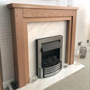Cheltenham Oak Fireplace Customer Picture