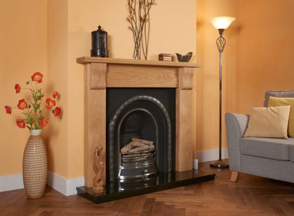 Contemporary Corbel Oak Fireplace Package