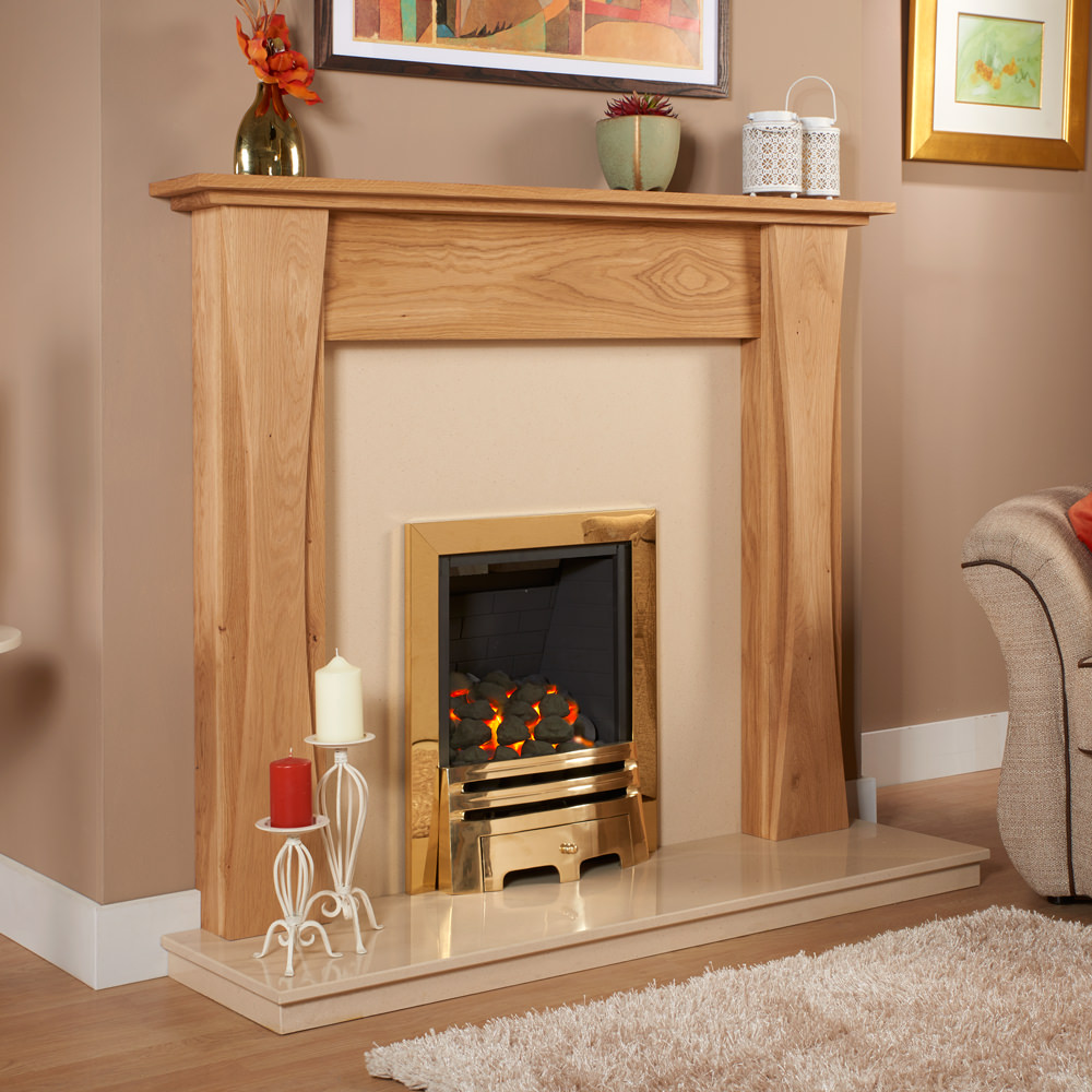 Curved Leg Solid Oak Fireplace Surround Oak Fire Surrounds