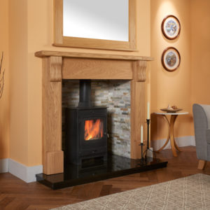 Fluted Corbel Oak Fireplace Package