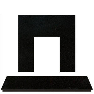 Polished Granite Fireplace Hearth Set