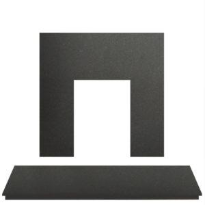 Honed Matt Granite Fireplace Hearth Set