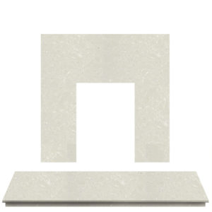 Nacarado Marble Fireplace Hearth Set