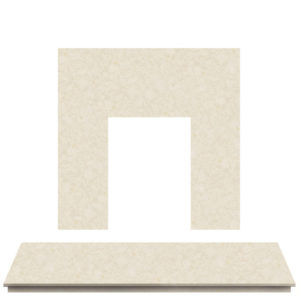 Rigel Marble Fireplace Hearth Set