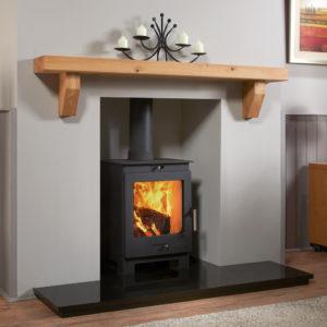 Rustic Angled Corbel Oak Mantel Shelf