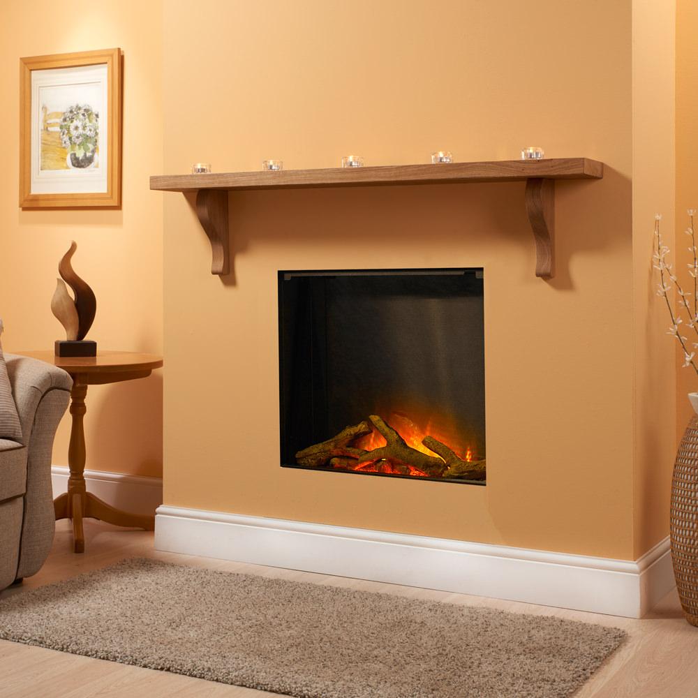 Small Corbel Oak Fireplace Shelf