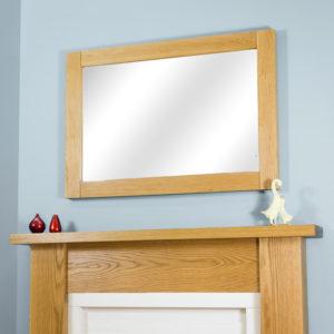 Straight Oak Mirror