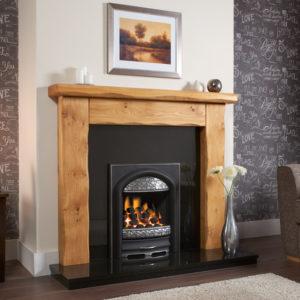 Waney Edge Ashford Oak Fireplace Package