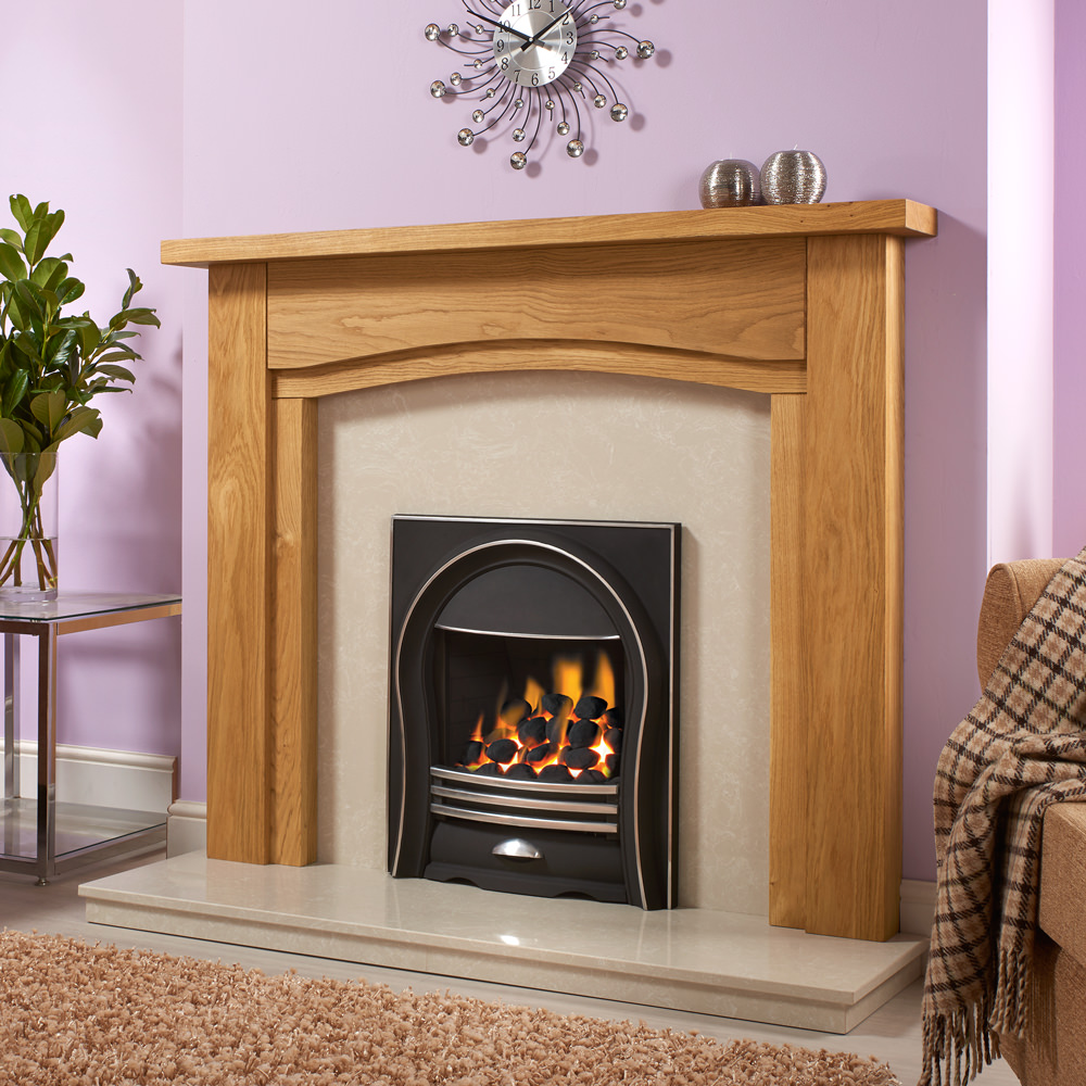 Fireplace Chunky Oak Fire Surround