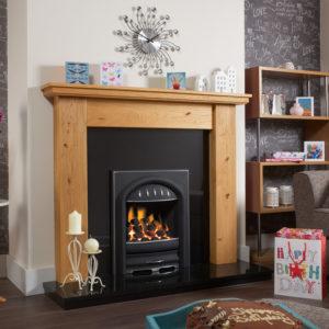 Rochester Oak Fireplace Package