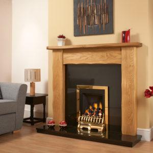 Waney Edge Oak Fireplace Package