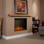 Floating Oak Fireplace Shelf