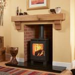 Square Rustic Arched Corbel Oak Mantel Shelf