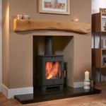 Waney Edge Rustic Bowed Oak Fireplace Beam