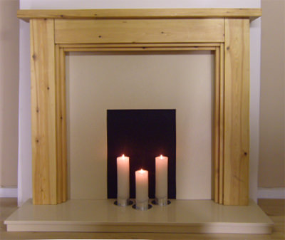 3 Step Solid Pine Fire Surround