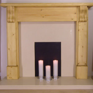 Fluted Corbel Solid Pine Fire Surround