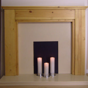 Stepped Solid Pine Fire Surround