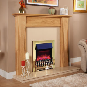 Curved Leg Solid Oak Fireplace Surround