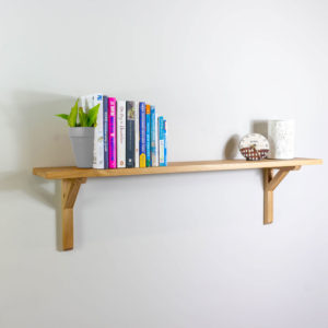 20mm Thick Solid Oak Shelving with Brackets