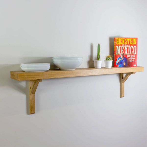 45mm Thick Solid Oak Shelving with Brackets