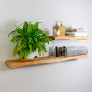 45mm Thick Waney Edge Solid Oak Shelving