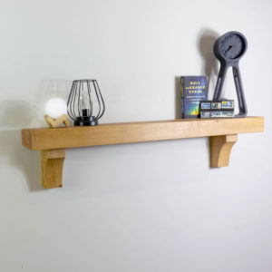 70mm Thick Shelf with Arched Corbels