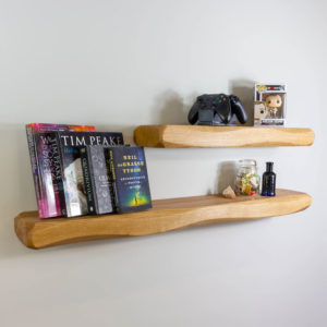 70mm Thick Waney Edge Solid Oak Shelving